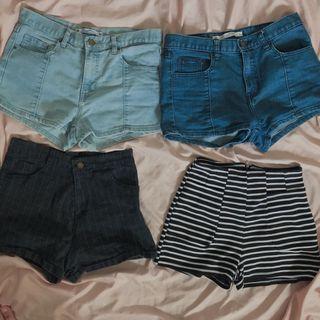 🖤高腰牛仔短褲 條紋短款 格紋短褲🖤