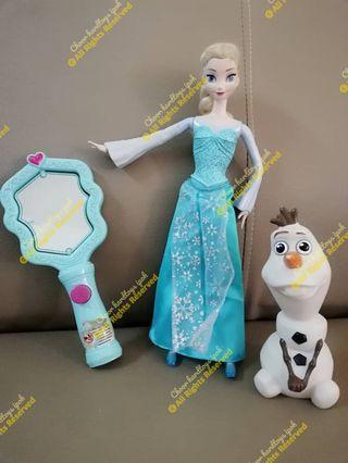 Frozen.. Elsa  with mirror + olaf rm50 ( tgn elsa ada lampu)