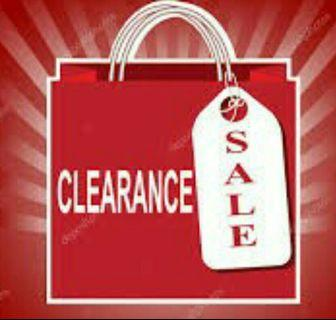Clearance offer must buy