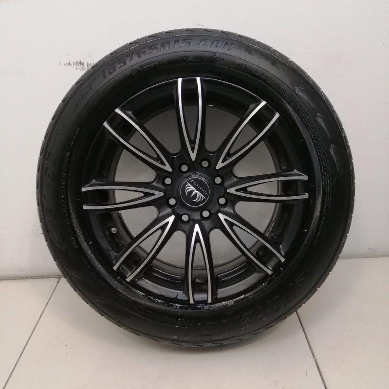 """15"""" Sports Rim With Tyre 4X100 4X114.3 (SR269)"""