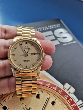 Omega Seamaster Day Date Vintage Quartz Gold Plated