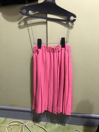 粉色 百褶裙