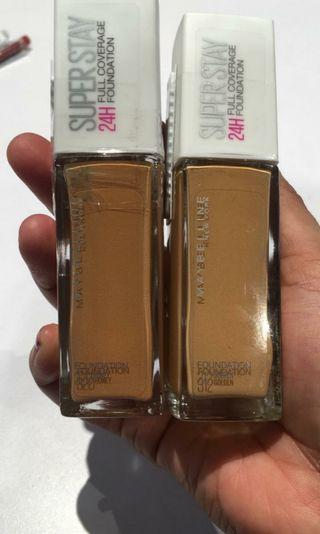 superstay full coverage foundation maybelline