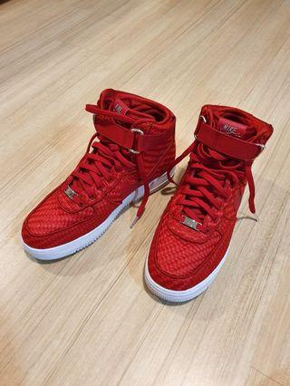 Nike Air Force 1 Red Woven Gym
