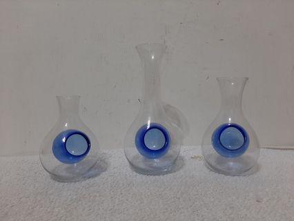 全新~ 日本進口酒壺酒杯玻璃分酒器進口酒具 3件組 ( 大 中 小 ) 套裝_