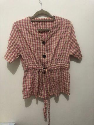 🌻 Pink Square Blouse