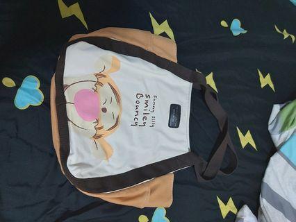 跳跳虎圖案手提袋+防塵袋