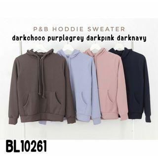 Sweater Hoodie BL10261 sweater polos sweater casual sweater simpel jaket hoodie jaket polos jaket casual