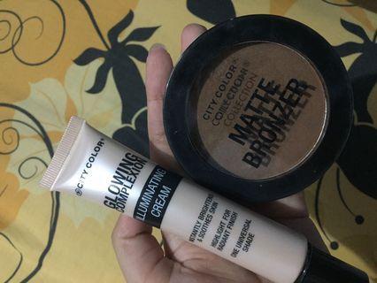 City Color matte bronzer & illuminating cream