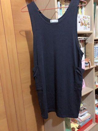 深藍連身裙