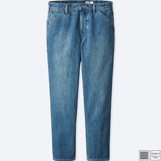 Uniqlo U 上寬下窄牛仔褲 藍色(407312)