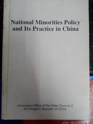 National Minorities Policy and Its Practice in China