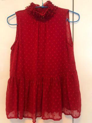 Zara mock neck blouse