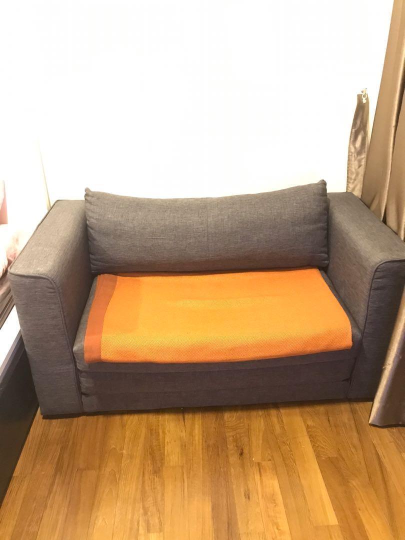 2 seater Sofa Bed (dark grey)