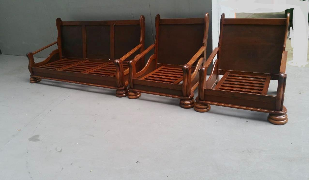 Antique Solid Wood Chair & Sofa Set