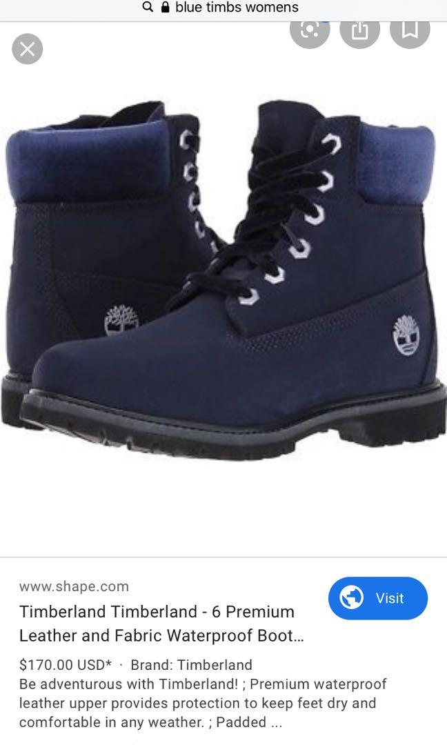 Authentic Blue Timberland Snow Boots