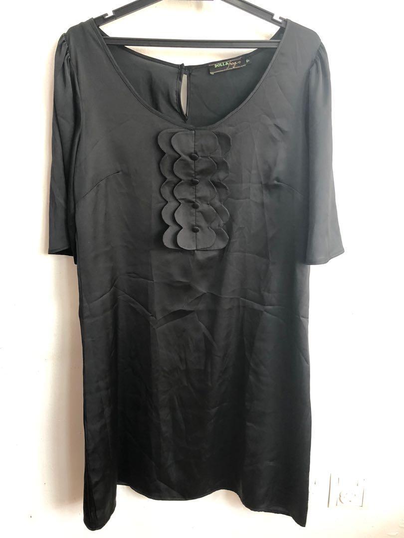 Black formal dress top