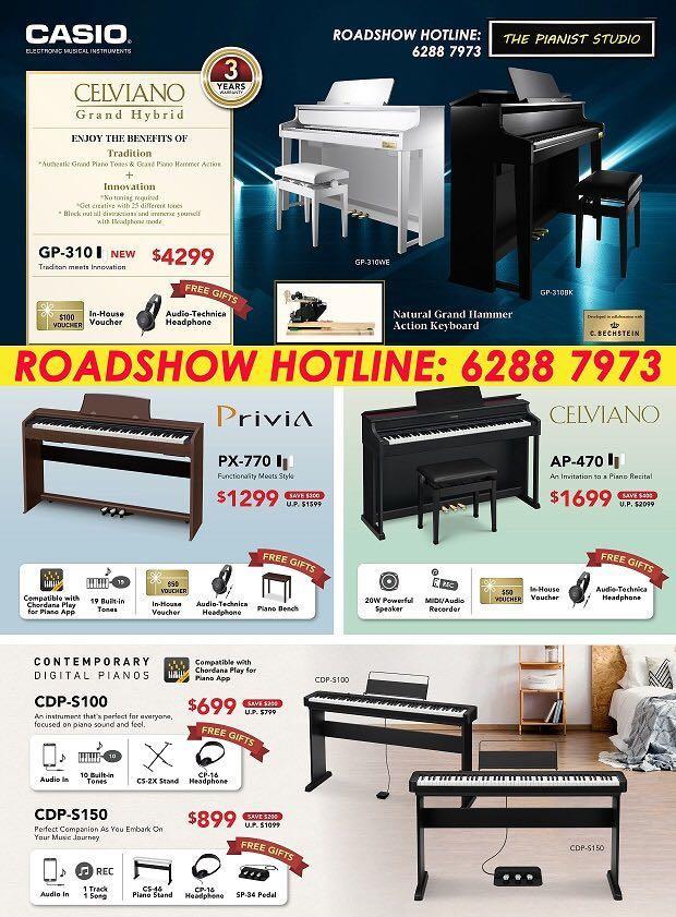Casio Tech Show 14-17 Nov @ Suntec | Casio PX-770 Digital Piano