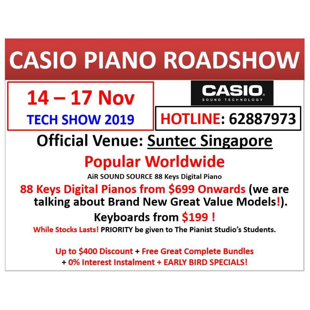 Casio Tech Show 14-17 Nov @ Suntec | Casio PX-S1000 Digital Piano