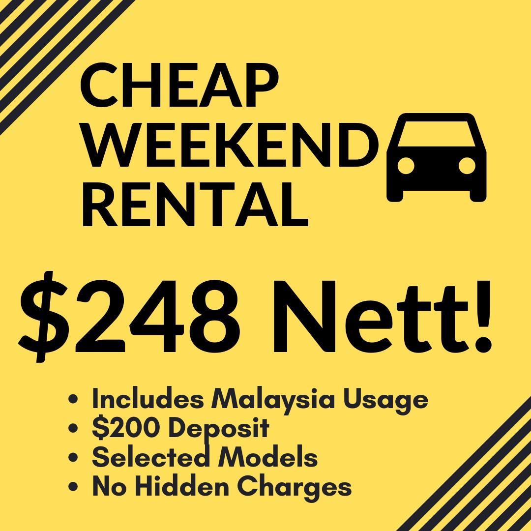 Cheap Weekend Car Rental Package
