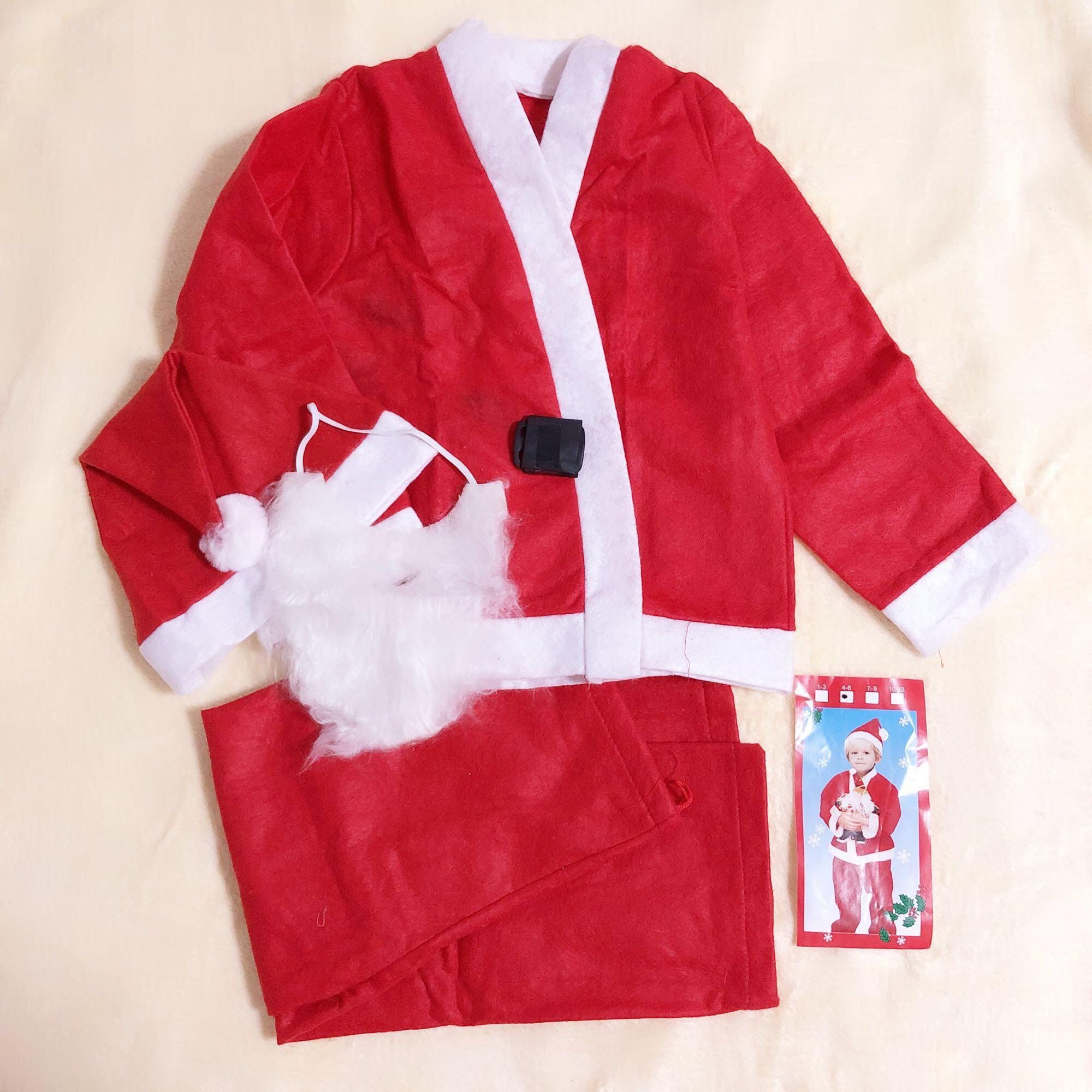 🎄Christmas Santa Claus Aged 4-6 Boy Costume Set Non Woven Fabrics Party 圣诞男童套装