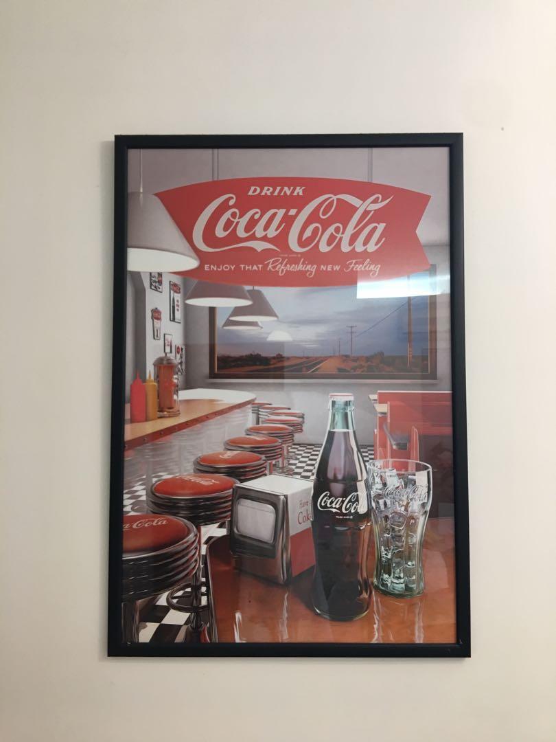 正版可口可樂Coca Cola 大型掛畫 / 海報