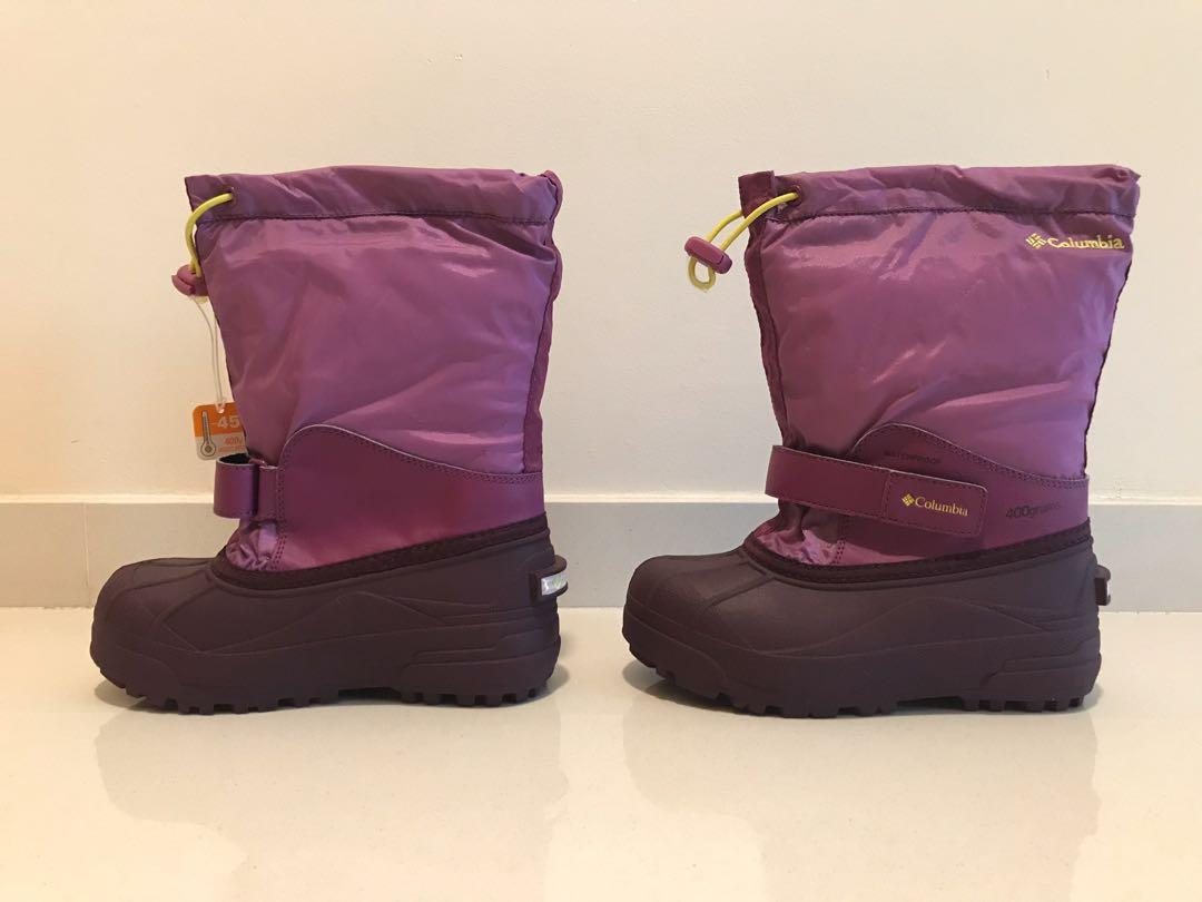 Brand new Columbia Kids' Children Youth Powderbug Forty winter snow boots