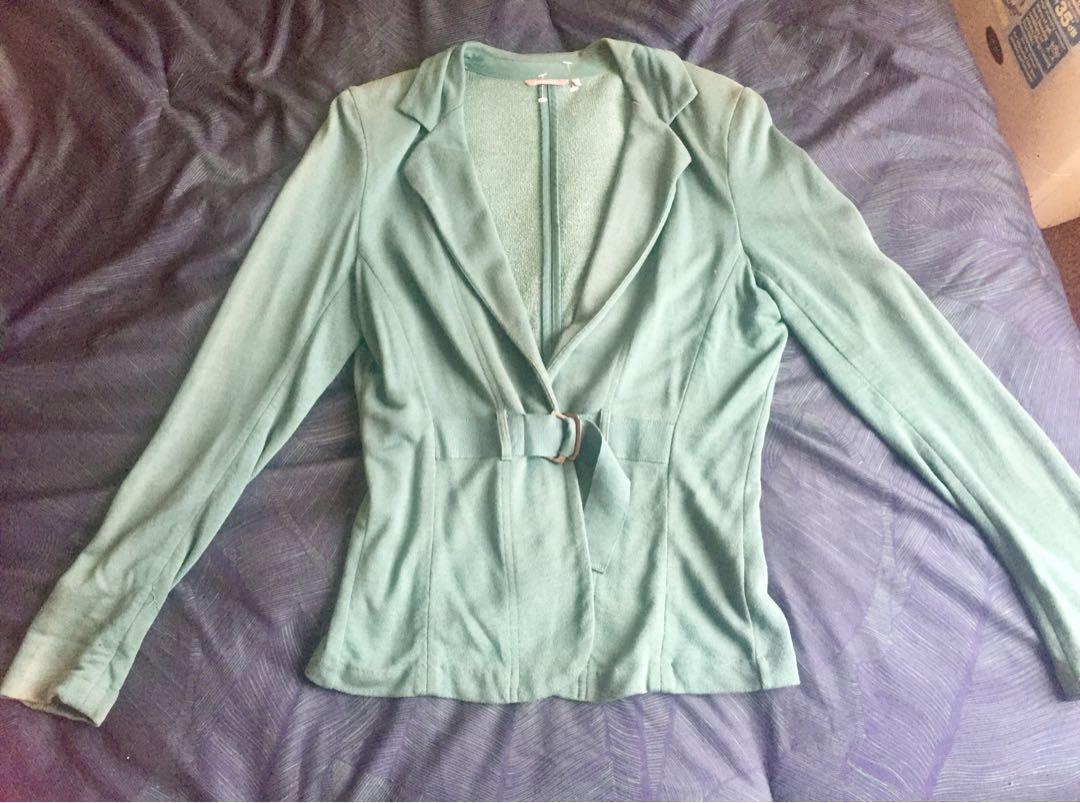 Green jacket/ soft blazer