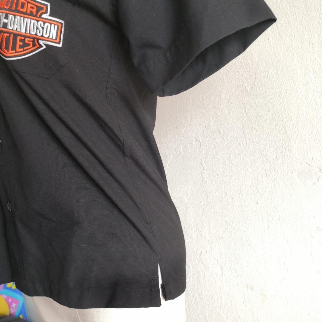Harley Davidson Button Up Collar Shirt