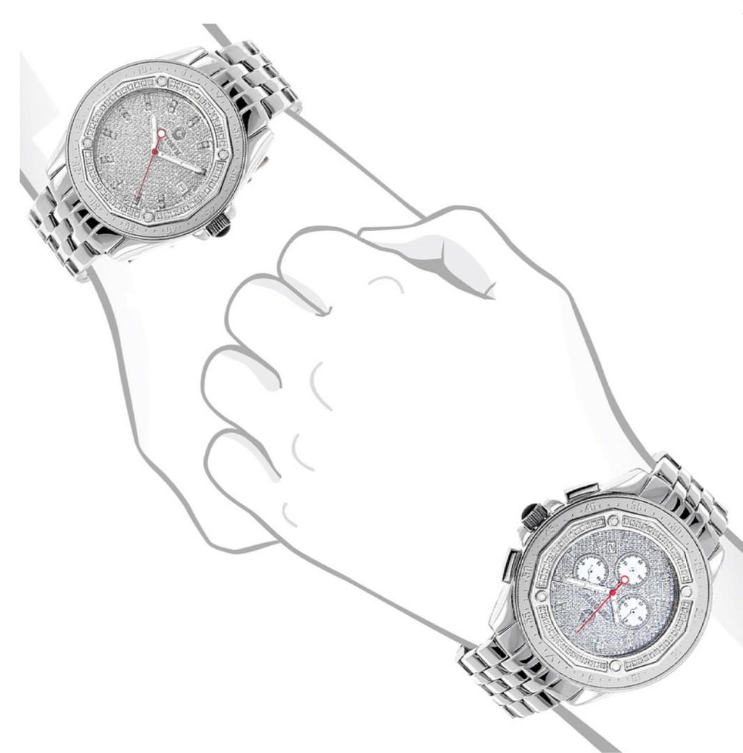 HIS AND HERS WATCHES, CENTORUM MATCHING DIAMOND WATCH SET 1.05CT