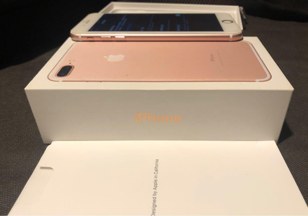 iPhone 7 Plus 128g 附盒子、充電頭、充電線