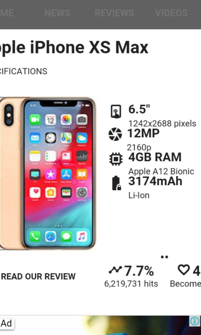 IPHONE XS MAX offer 256gb 👉 RM2899