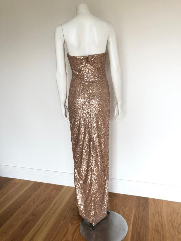 JADORE Champagne Sequin Strapless Dress (size 6) - GREAT CONDITION