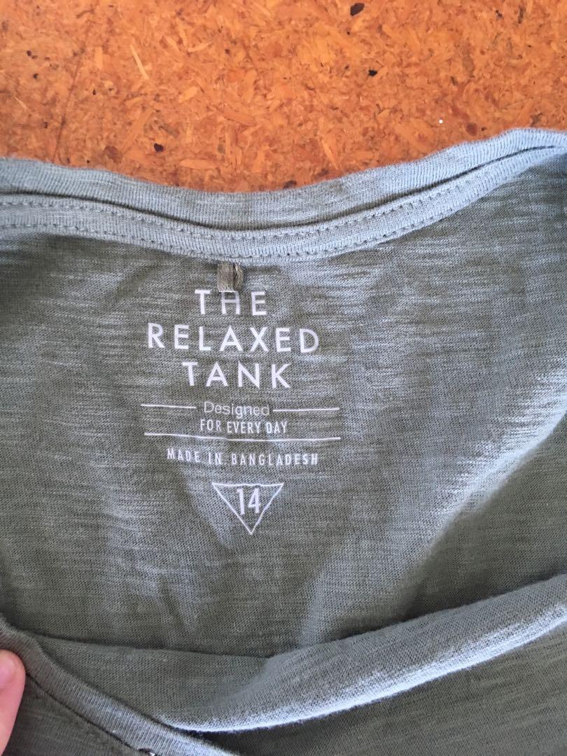 Khaki Tank Top Size 14