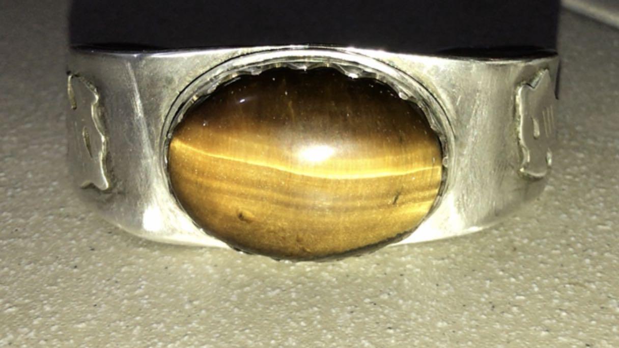 King Tiger eye silver bracelet