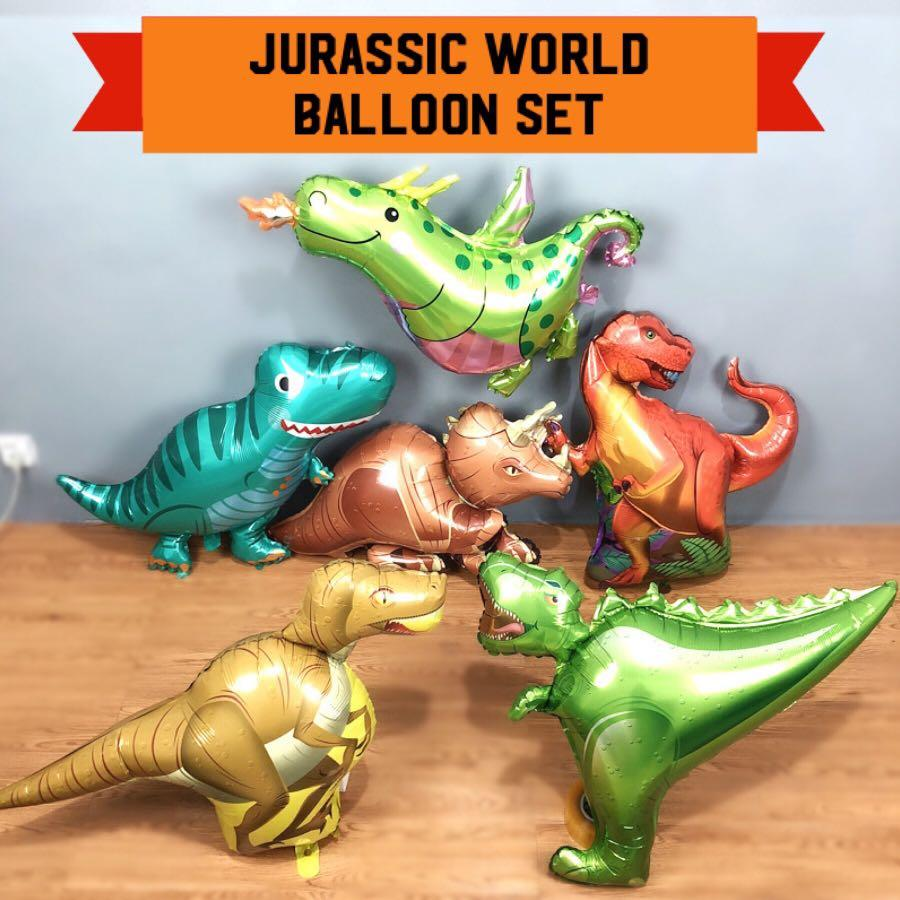Large Dinosaur Balloon Set 6 pcs tc