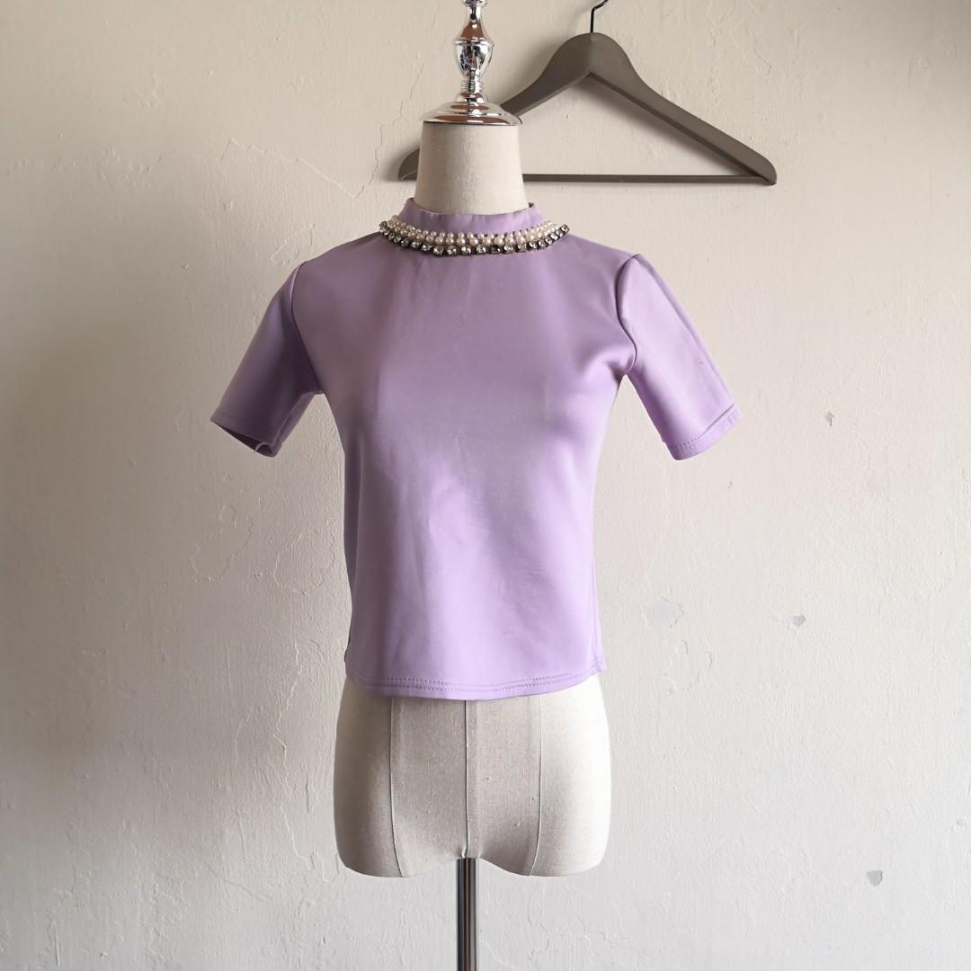 Light Purple Crop Top