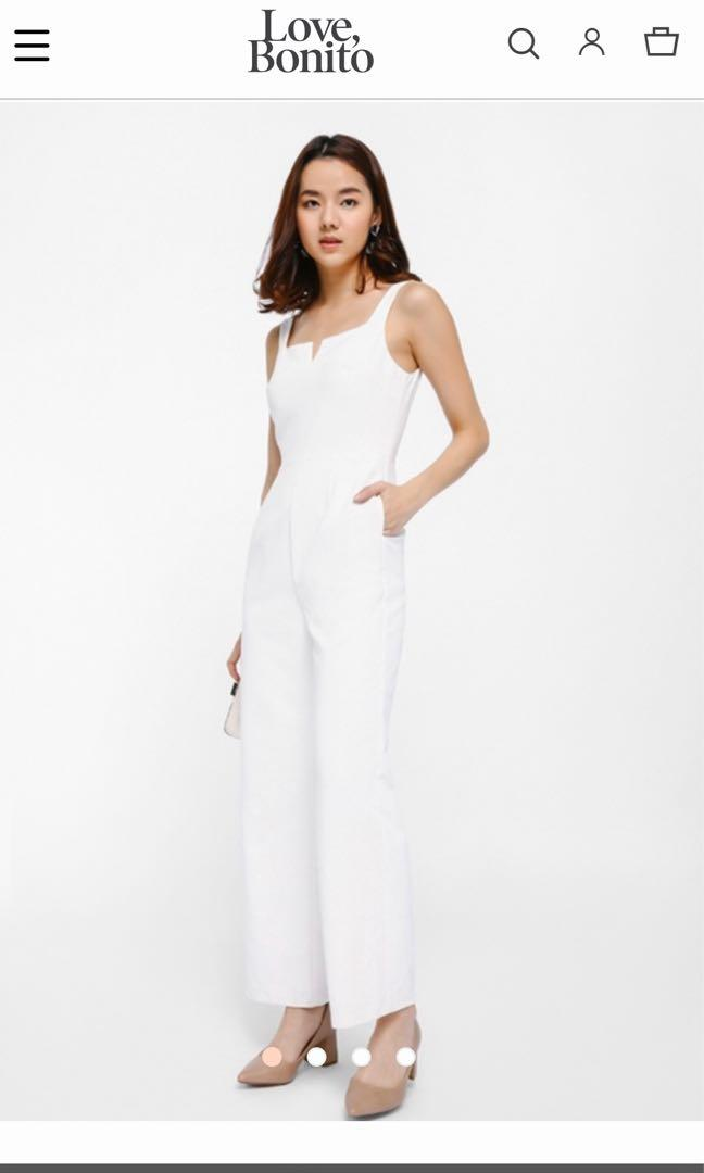 Love Bonito white jumpsuit