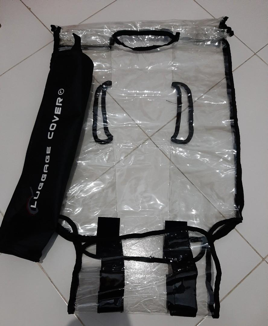 Luggage Cover Koper Pelindung Mika Transparant 28""