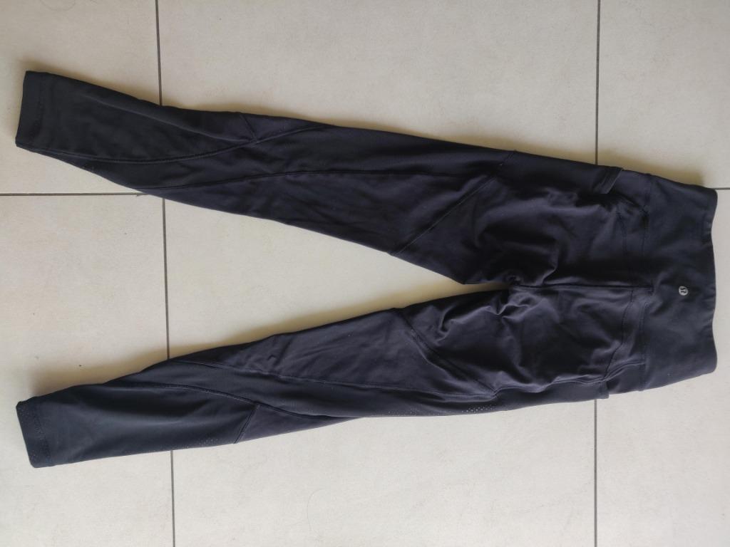 Lululemon Full Length Black Pant Tights Leggings Size 4