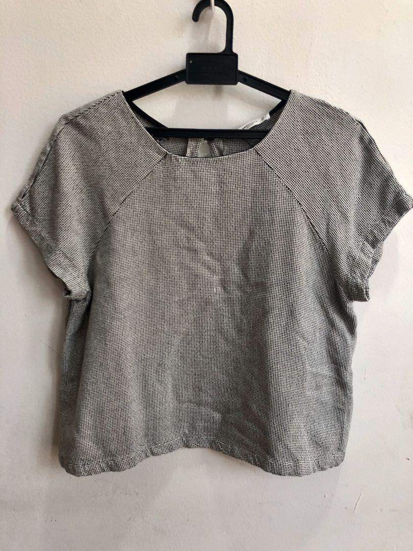 Mango casual cropped blouse