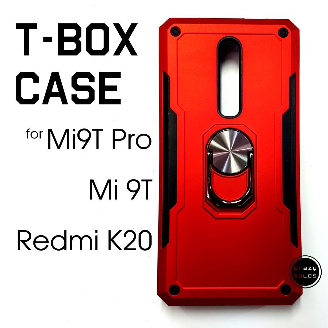 Mi 9T / Redmi K20 T-BOX ARMOR CASE W RING STAND RED