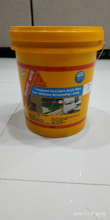 NEW!! 20kg SikaCoat®500 Super, SikaFill MFR Waterproof Liquid Membrane Coating for Roof Leak, Roof Coating, Concrete Seal