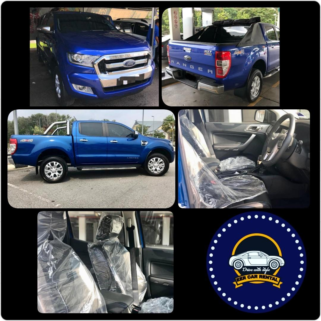 New Ford Ranger 2.2 Turbo (A) 4x4 Pickup Truck Rental Selangor