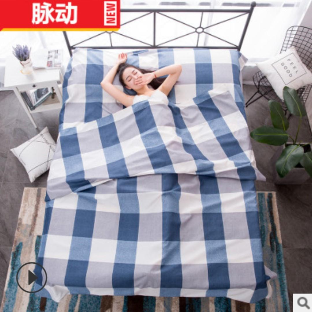 Outdoor travel hotel across dirty sleeping bags super single size
