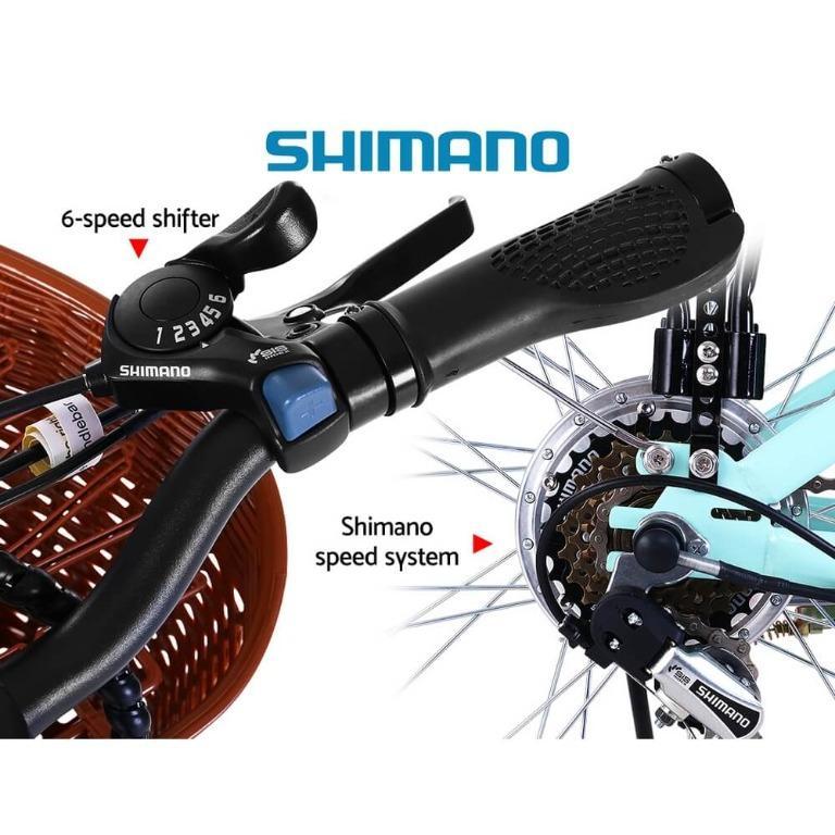 Phoenix 26″ Electric Bike eBike e-Bike Bicycle City Battery Motorized with Basket Blue