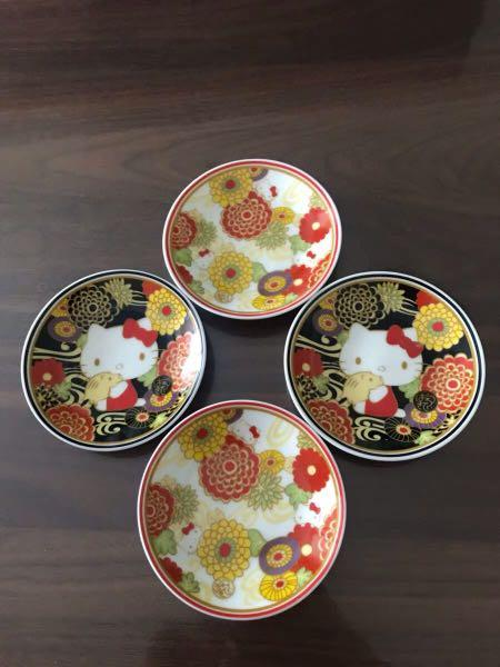 P.O. Hello Kitty Japanese Kimono porcelain plate sauce chinaware