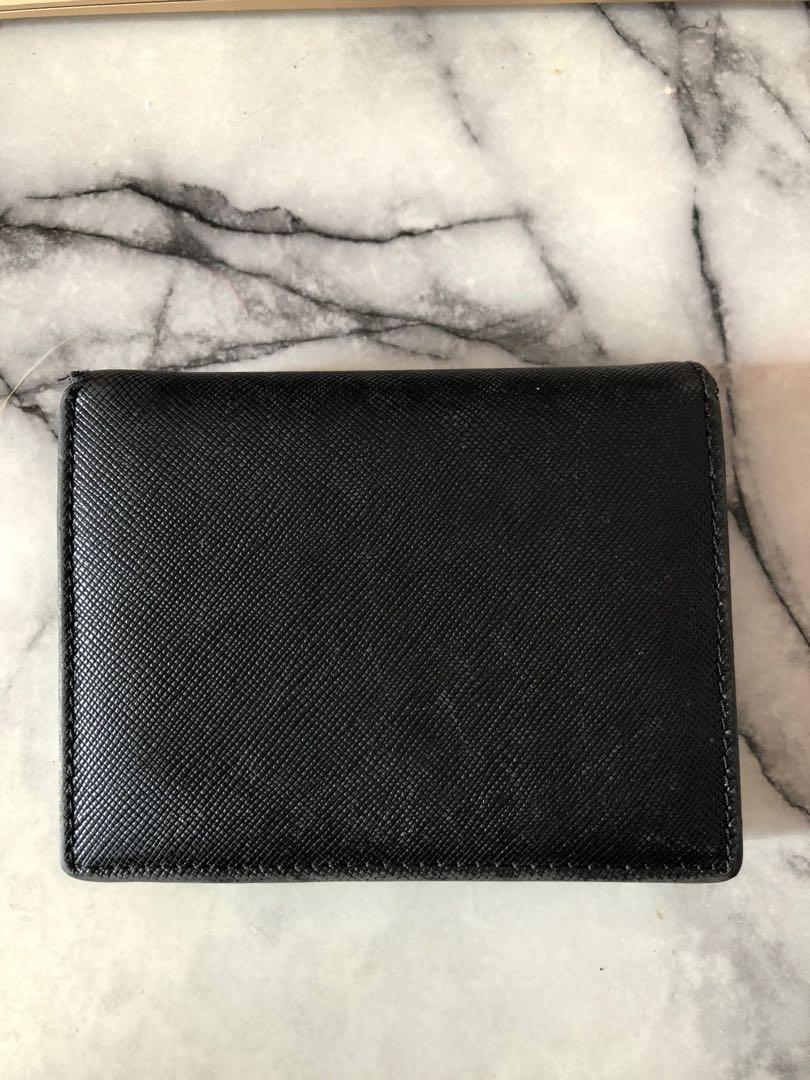 Prada Authentic Black Saffiano Leather Wallet (DAMAGED)