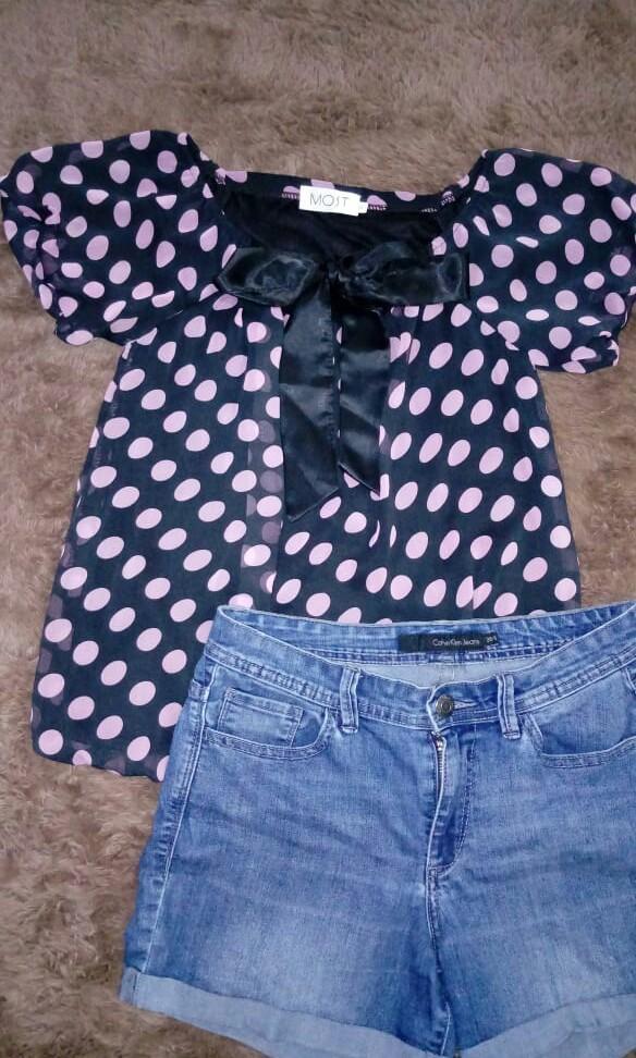 Preloved Polkadot blouse merk Most