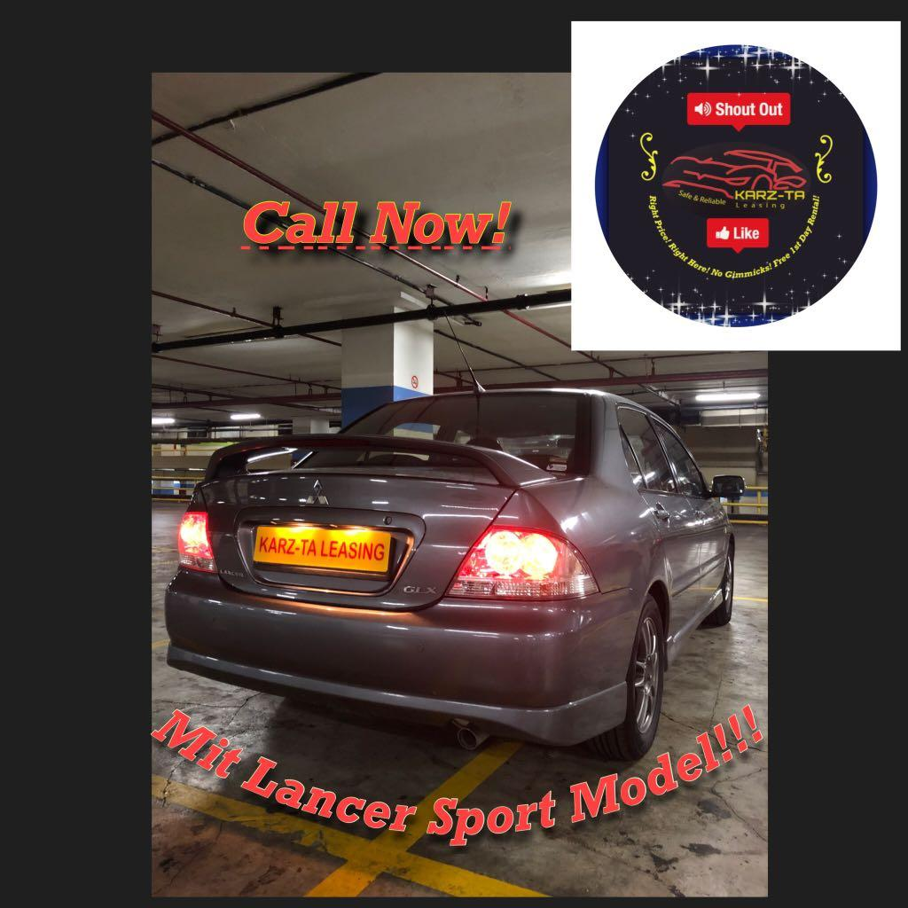 Promo Now! Mit lancer Sport vesion! Rental Rebate! Petrol Saver Proven! 18% off petrol Card! Lowest Price! Can Drive Go-Jek/Grab/Ryde/Tada/Sixtnc! Flexible Rental Scheme! Personal User! Call Now!